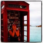 Douchen in een telefooncel