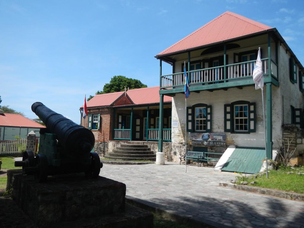 Het Historical museum in Statia
