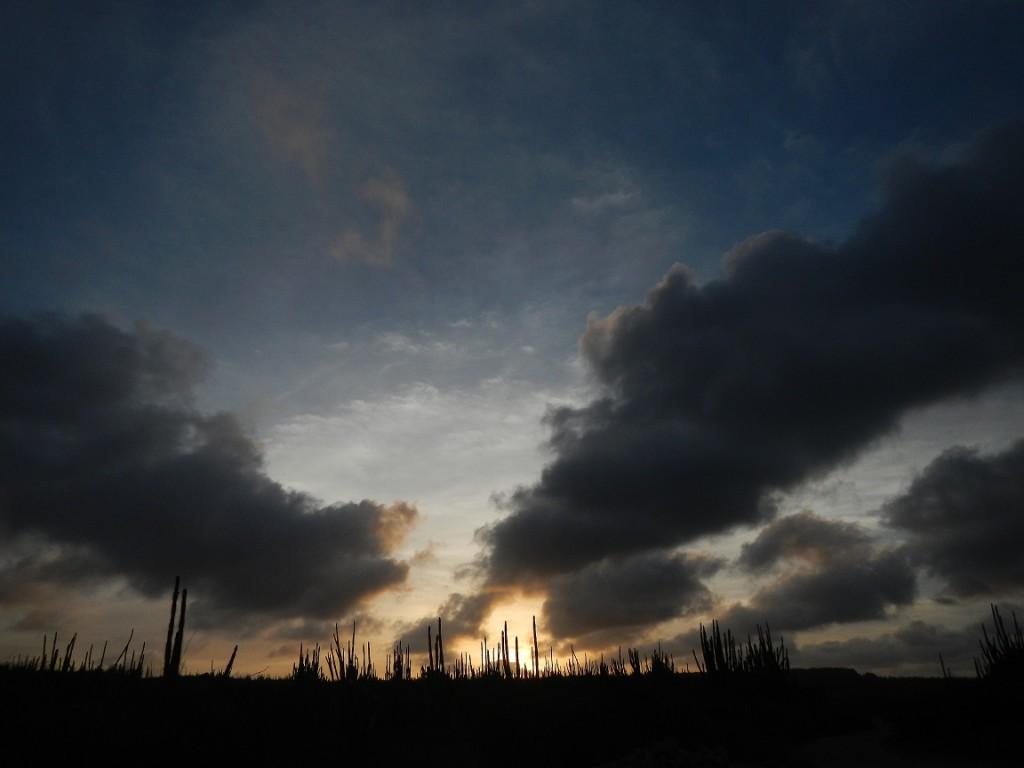 De Brandaris bij ondergaande zon