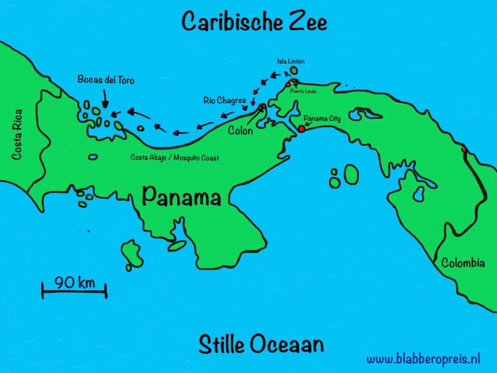 De route naar Bocas del Toro