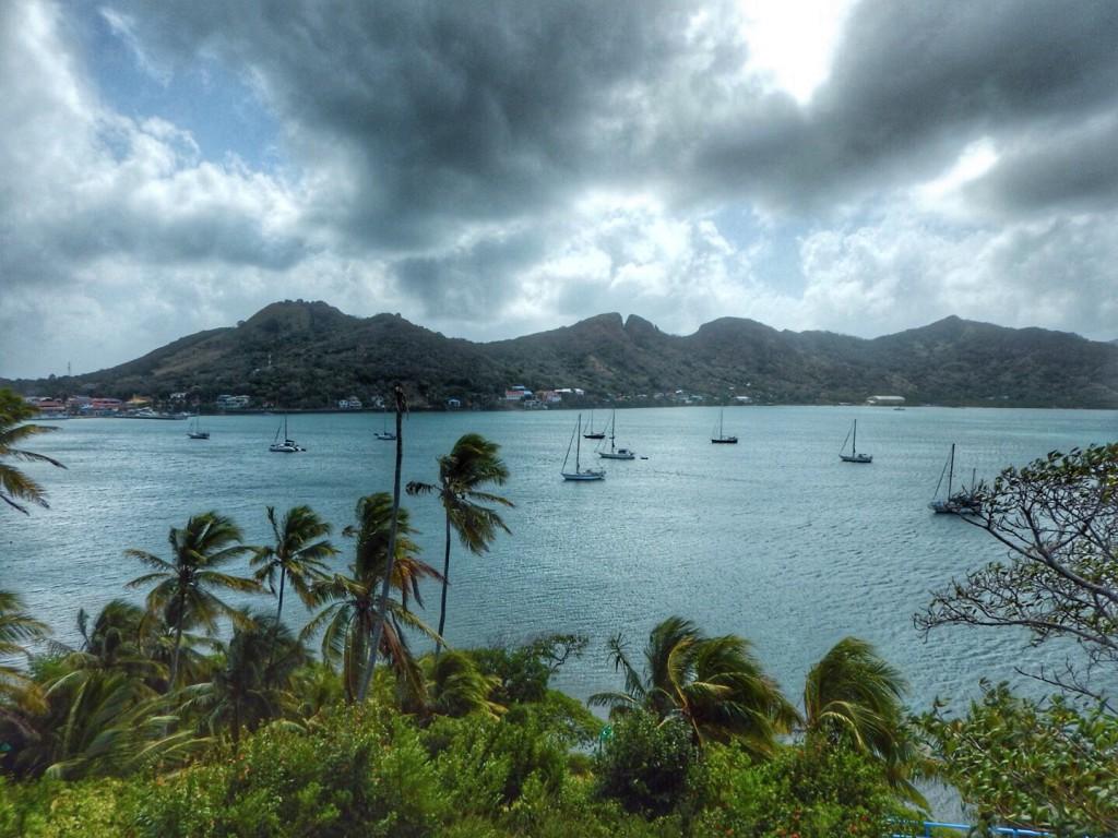 Het uitzicht op de baai van Providencia