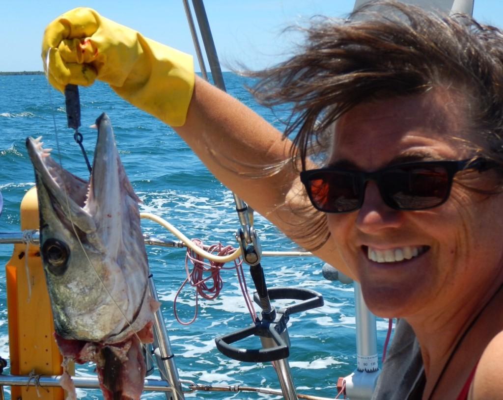 Yessss de grootste Barracuda tot nu toe! De haak uit Isla Juventud werkt!